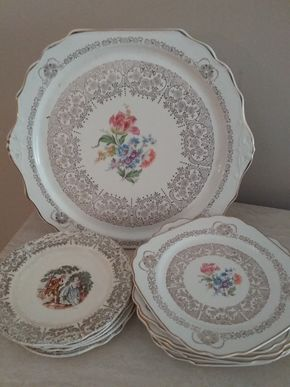 Lot 064 Lot of Assorted American Made China Plates PICK UP IN MANHASSET