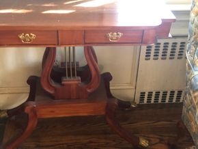 Lot 031 Harp Based Console Table 35.5L x 17D x 32H PICK UP IN RVC