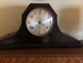 Lot 008 Lot of 1 Gilbert 1807 Chime Tambour Mantle Clock-Working Condition 19H x 10L x 7W