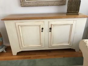 Lot 147 Painted Wood Buffet 36H x 17W x 68L PICK UP IN GARDEN CITY