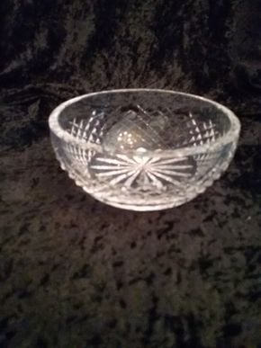 Lot 010 Waterford  Bowl 2 Inches Tall 5.5 In diameter PICK UP IN GARDEN CITY