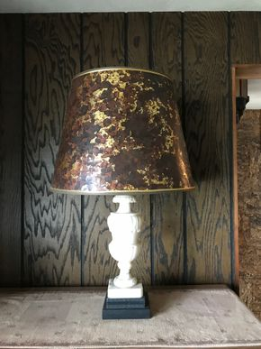 Lot 118 Capodimonte Lamp. AS IS - Lampshade is Ripped. 29.25H. PICK UP IN BELLMORE.