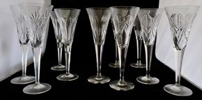 Lot 032 PU/Lot of 5 Waterford Lismore Crystal Millennium Toasting Flutes 9.25H x 3.5W PICK UP IN CARLE PLACE,NY