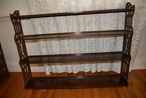 Lot 006  Wood Shelf 33H x 7W x 41L PICK UP IN ROCKVILLE CENTRE