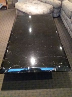 Lot 050 Black Lacquer Coffee Table 15H x 33W x 55L PICK UP IN ROCKVILLE CENTRE