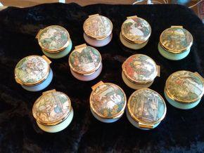 Lot 029 Lot Of 11 Franklin Mint Pill Boxes PICK UP IN CEDARHURST