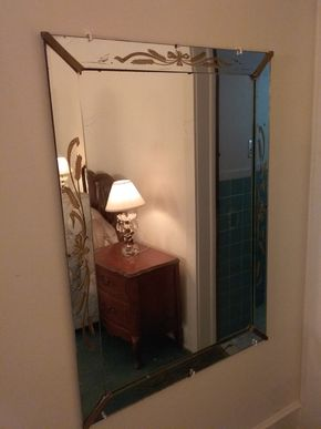 Lot 017 Decorative Wall Mirror 43x 31 PICK UP IN WESTBURY