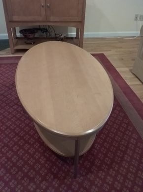 Lot 024 Ethan Allen Coffee Table 16.5 X 29 x 56.5 PICK UP IN OCEANSIDE
