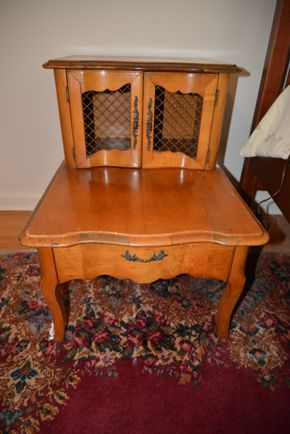 Lot 019 Wood Night Table 26H x 21W x28L  PICK UP IN CATHEDRAL GARDENS HEMPSTEAD NY