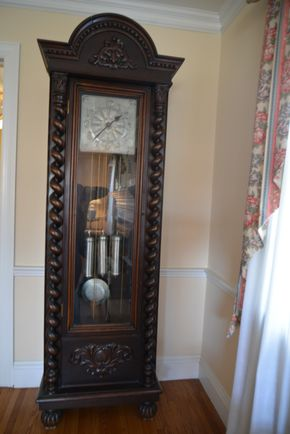 Lot 014 Pick Up Grandfather Clock 84H x 14.5W x 24L PICK UP IN ROCKVILLE CENTRE