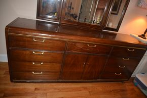Lot 009 9 Drawer Dresser w/Storage Cabinet 30.5H x 74W x 19L As Is PICK UP IN MALVERNE,NY