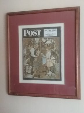 Lot 069 Framed 1948 Saturday Evening Post 23x 20 PICK UP IN WEST HEMPSTEAD