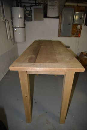 Lot 028 Restoration Hardware Wood Table 36H x 62L x 24D PICK UP IN PORT WASHINGTON,NY