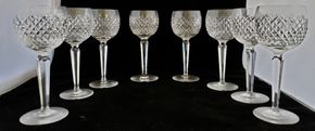 Lot 030 CC-PU/ of 8 Waterford Crystal Wine Hock Alana 7.375H x 2.875W PICK UP IN CARLE PLACE,NY