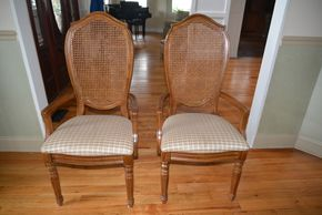 Lot 005 Lot of 2 Dining Armchairs/Upholstered Seating 43H x 19W x 17L PICK UP IN MALVERNE,NY