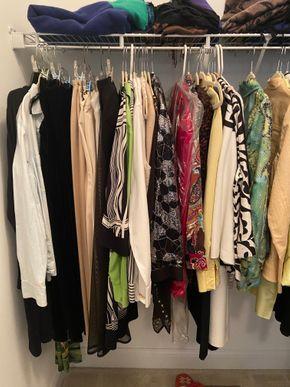 Lot 029 PU Closet of clothes sz 10-12 shoes handbags PICK UP IN HUNTINGTON