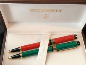 Lot 078 Lot of 2 Waterman Ball Pens in Box w/Papers PICK UP IN NORTH MASSAPEQUA