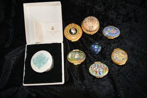 Lot 009 Pick Up Lot of Halcyon Days Enamel Trinket Boxes PICK UP IN GARDEN CITY