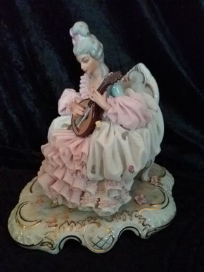 Lot 006 Dresden Figurine 9 Inches Tall PICK UP IN FLORAL PARK
