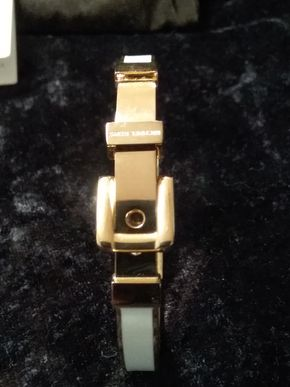 Lot 043 Michael Kors White Buckle Cuff Bracelet PICK UP IN GARDEN CITY