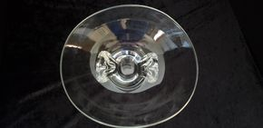 Lot 008  Pick Up Steuben Glass Bowl H5 x 10W x 11.5L PICK UP IN ROCKVILLE CENTRE