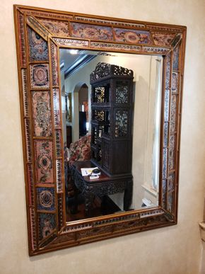 Lot 035 PU-PAY AT 9-13-19 TAG SALE /Framed Wall Mirror 48H x 36.5W PICK UP IN ROCKVILLE CENTRE, NY