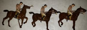 Lot 019 PU-Pay at PU/ Lot of 3 Vintage Lead Polo Players Figurines PICK UP IN MINEOLA,NY