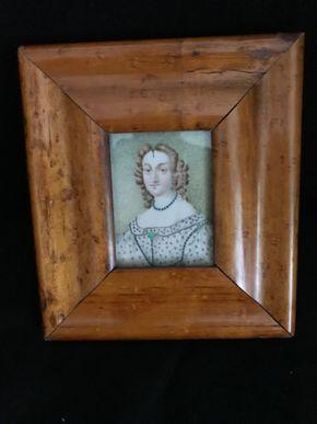 Lot 133 Antique Miniature Portrait Of Royalty 6X 6.5 PICK UP IN GARDEN CITY