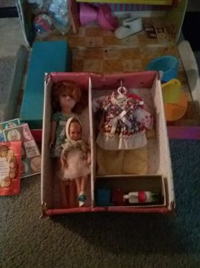 Lot 014 Lot Of Vintage Pepper and Francine Barbie Dolls  with Cases PICK UP IN GLEN COVE