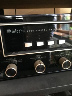 Lot 030 McIntosh MR80 Digital FM Tuner The items listed in the description is what is being sold PICK UP IN GARDEN CITY