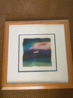 Lot 088 Framed Signed Print  19x 19 PICK UP IN WEST HEMPSTEAD