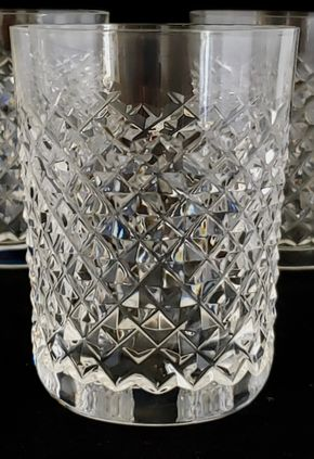 Lot 021 CC-PU Lot of 7 Waterford Old Fashion Glass Alana 3.375H x 3.125W PICK UP IN CARLE PLACE,NY