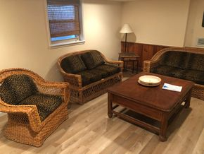 Lot 011 3 Piece Wicker Set including 2 Couches and 1 Chair PICK UP IN PORT WASHINGTON
