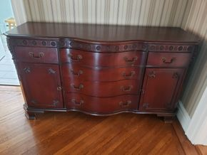 Lot 017 PU/Sideboard Buffet Storage Cabinet 34.5H x 64W x 22.25D PICK UP IN GARDEN CITY, NY