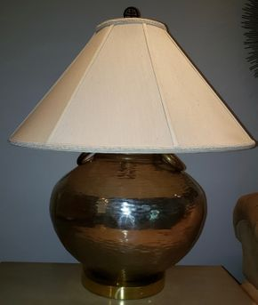Lot 003 Metal Table Lamp 26H PICK UP IN HEWLETT,NY