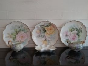 Lot 053 Lot Of Decorative Painted Porcelain. PICK UP IN OLD WESTBURY