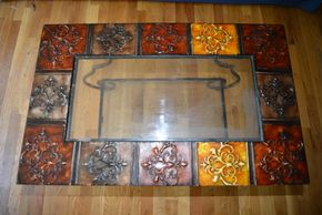 Lot 023 Coffee Table Glass-Metal 18.875H x 32W x 20L PICK UP IN MINEOLA, NEW YORK