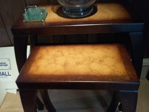Lot 024 Modern Nesting Tables 42 x 13 x 27 PICK UP IN ROCKVILLE CENTRE