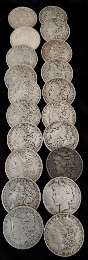 Lot 040 PUP/Lot of 20 American Silver Dollars PICK UP IN CENTERPORT, NY