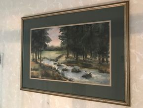 Lot 013 Water Color Signed By ZWANGER. Approx 22L X 14W. PICKUP IN STONY BROOK.