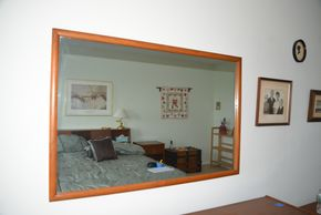 Lot 030 Wood Mirror 32H x 48W x 1L PICK UP IN GLEN COVE, NY