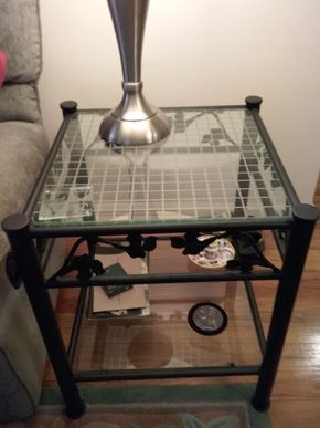 Lot 008 Pair of Wrought Iron End Table  24 x 20 x 20 PICK UP IN HOWARD BEACH
