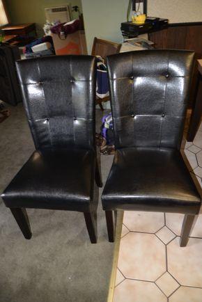Lot 002 Lot of 6 Dining Chairs 38H x 18.5W x 20L PICK UP IN FLORAL PARK, NY