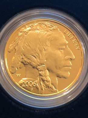 Lot 025 American Buffalo One Ounce Gold Proof Coin 2006