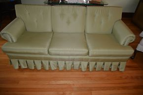 Lot 021 Upholstered Sofa 3 Seater 29H x 75W x30.5L PICK UP IN MALVERNE, NY