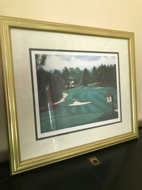 Lot 037 Pinehurst Golf Course 2nd Hole Lithograph Signed and Numbered In Pencil PICK UP IN LAWRENCE