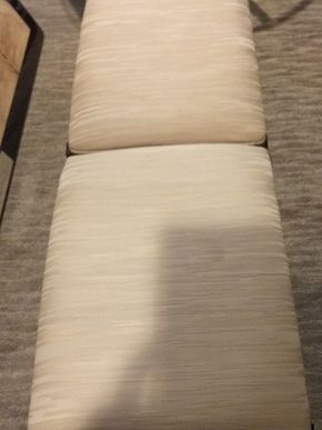 Lot 033 Pair Of Custom Upholstered and wood Benches 18x 15 x 20 PICK UP IN GARDEN CITY