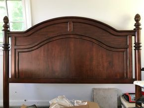 Lot 103 Thomasville King Size Wood Pineapple Post Head Board 66 Inches Tall. PICK UP IN LAWRENCE