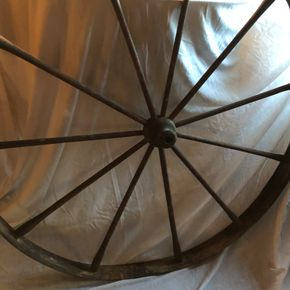 Lot 011  Wooden Wagon Wheel 49Diameter