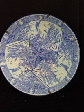 Lot 006 Blue and White Imari Charger 18.5 Diameter